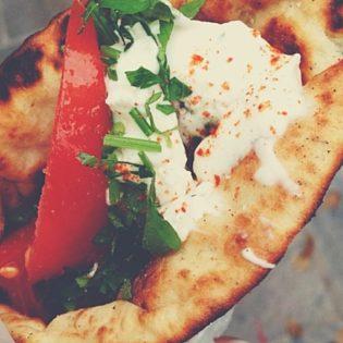 Eat Greek gyros and souvlaki